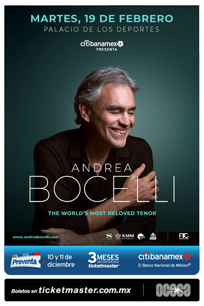 Citibanamex presenta: Andrea Bocelli